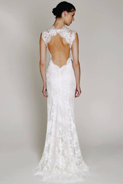 Chantilly lace open back wedding dress bycouturier chantilly lace open back wedding dress junglespirit Choice Image