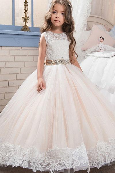 A lineprincess floor length flower girl dress bycouturier a lineprincess floor length flower girl dress mightylinksfo