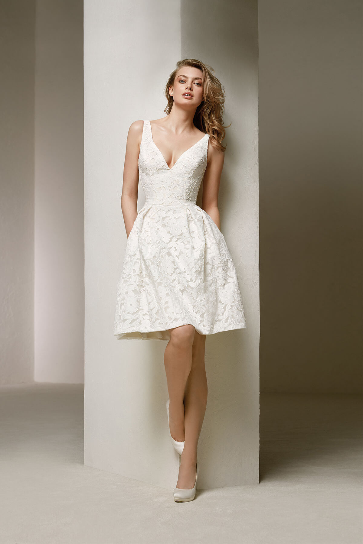 Short strapless lace wedding dress bycouturier short strapless lace wedding dress junglespirit Gallery