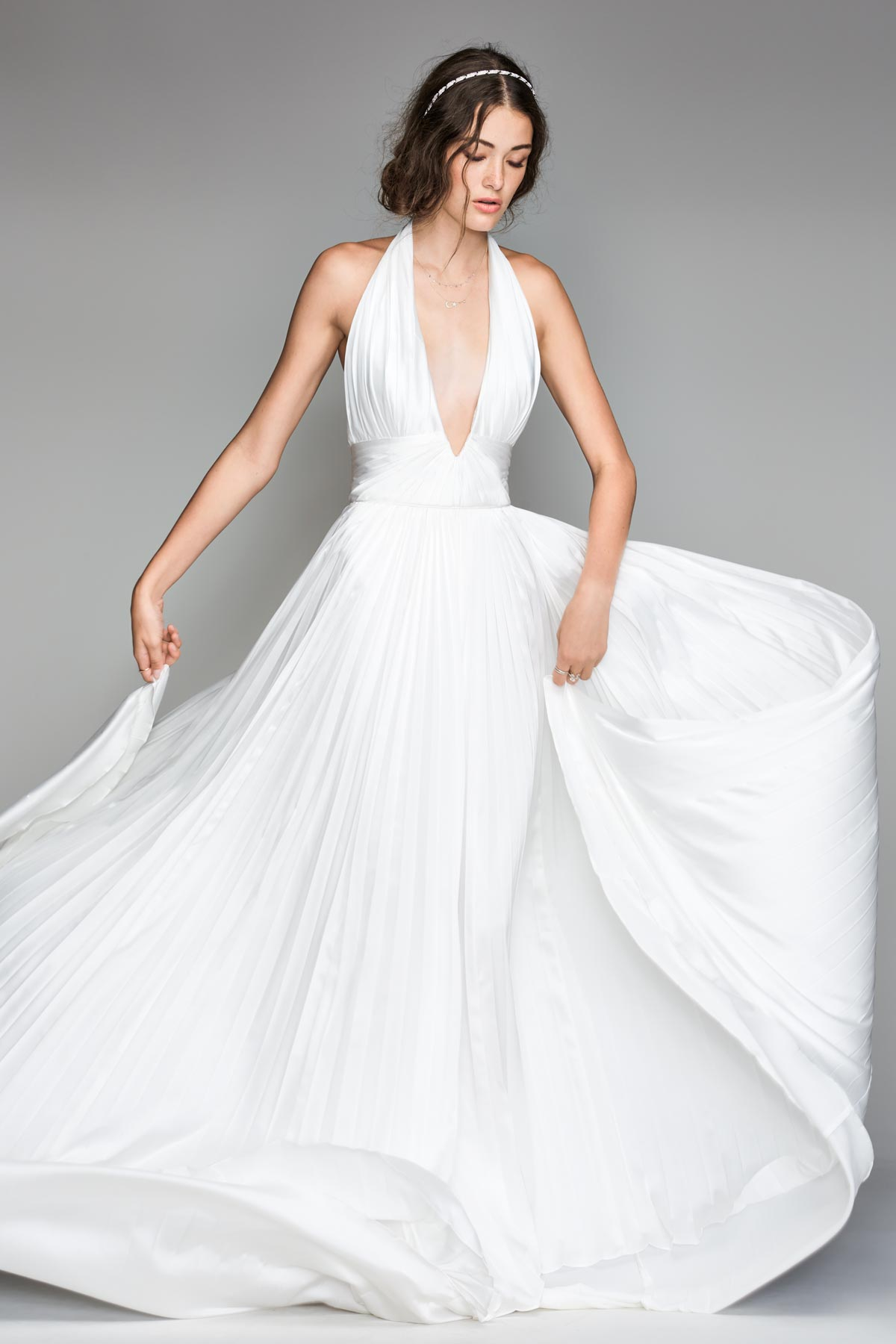 Halter Backless Bridal Dress | Bycouturier