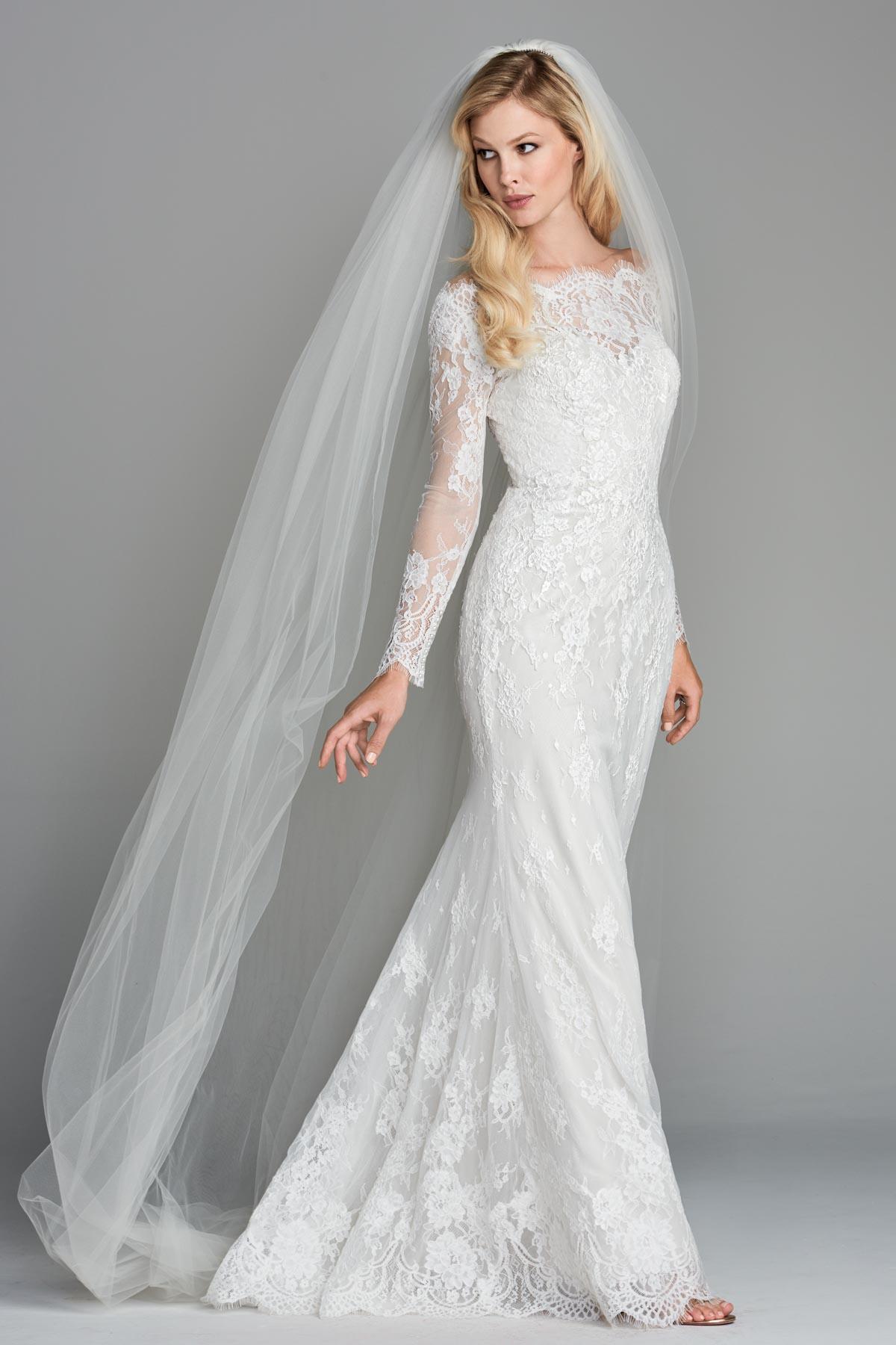 Scoop neck long sleeved sheath wedding dress bycouturier scoop neck long sleeved sheath wedding dress junglespirit Image collections