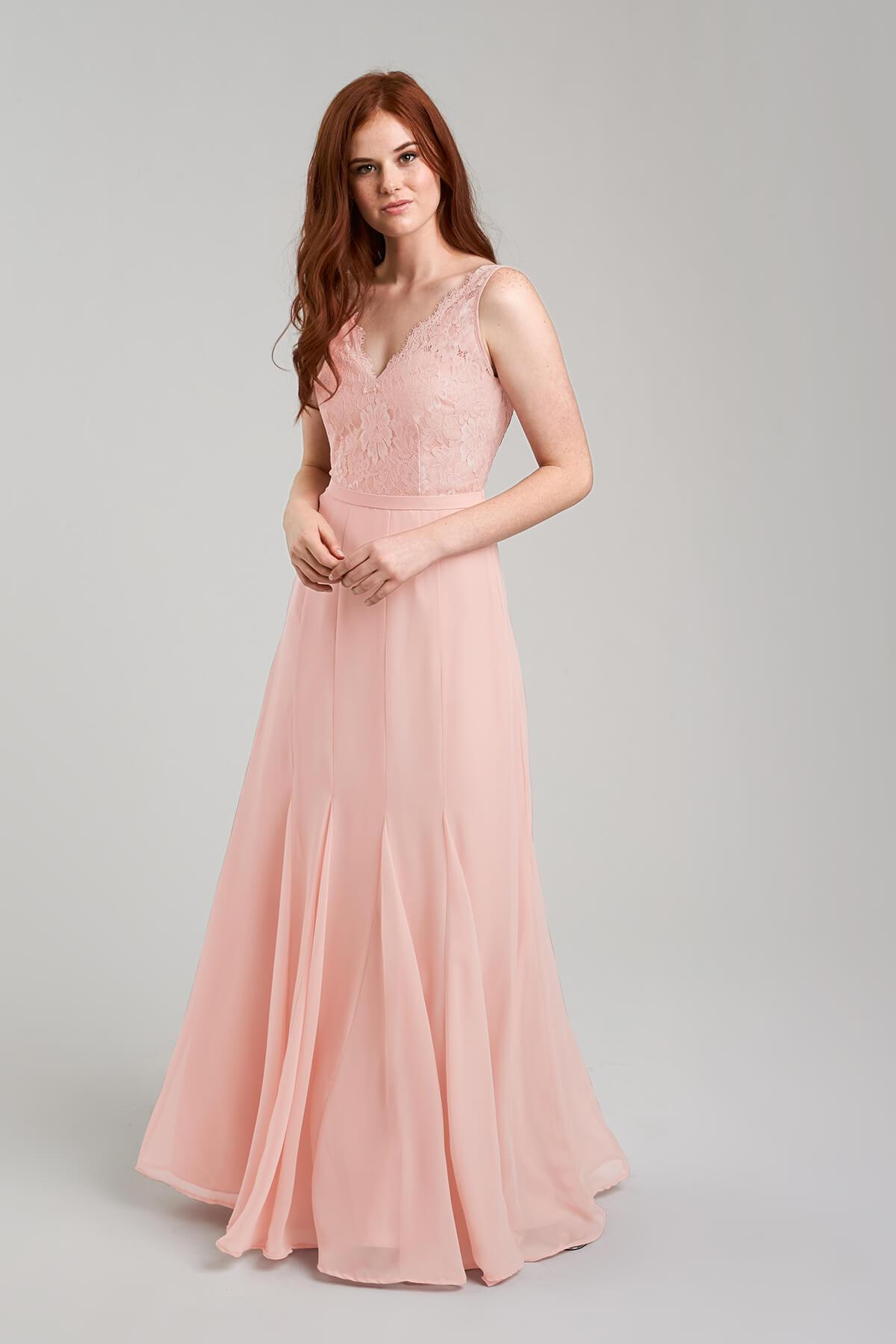 V-Neck Floor-Length Bridesmaid Dress   Bycouturier