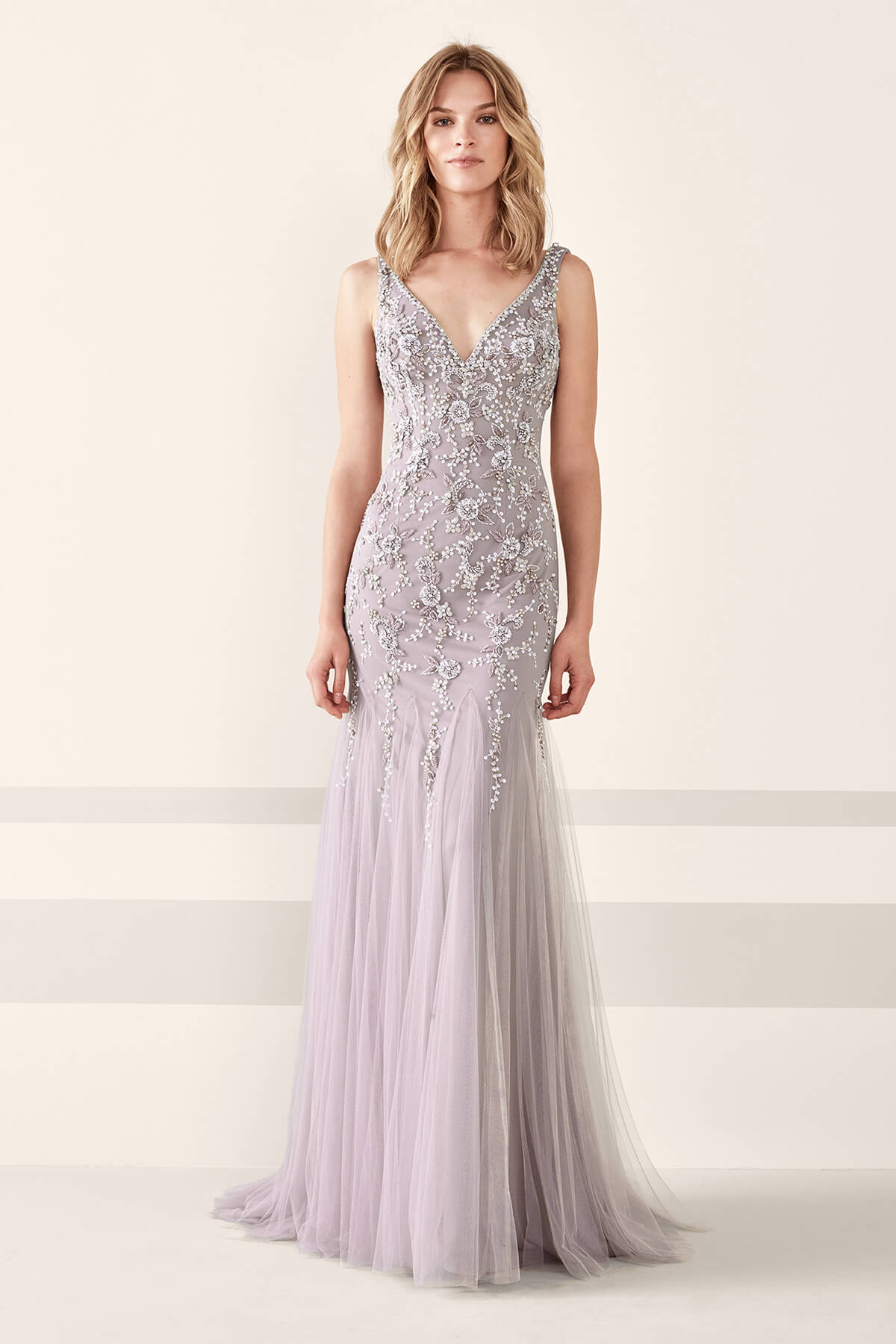 V-Neck Evening Gown   Bycouturier