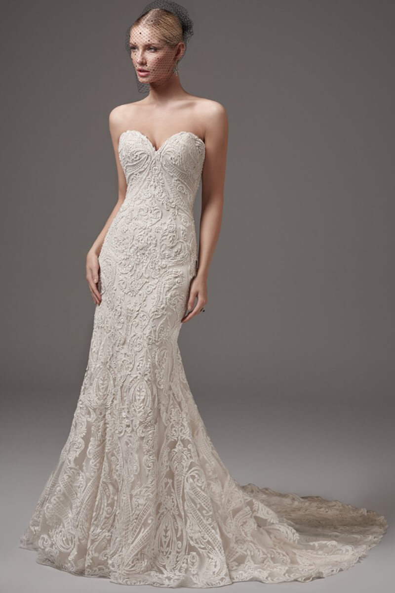 sweetheart mermaid wedding gown | Bycouturier