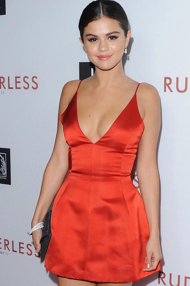 bfbc80c1c53 ... Selena Gomez Fit and Flare Little Red Dress  Rudderless  LA Premiere  and Irina Shayk ...