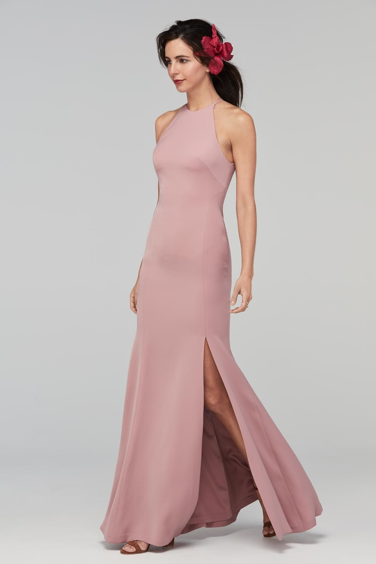 Halter split skirt Mermaid Bridesmaid Dress | Bycouturier
