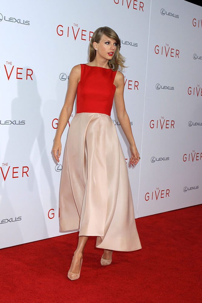 Taylor Swift Evening Prom Dress \'The Giver\' New York Premiere Red ...