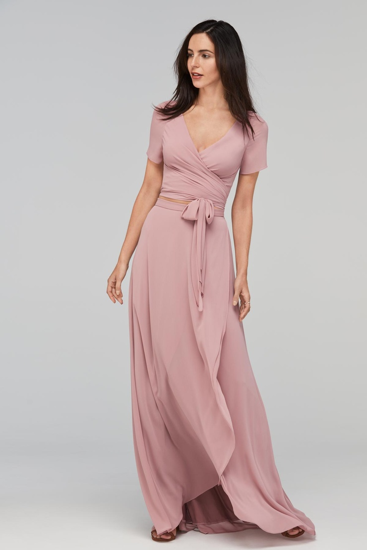 Cap Sleeves Floor-Length A-Line Bridesmaid Dress | Bycouturier