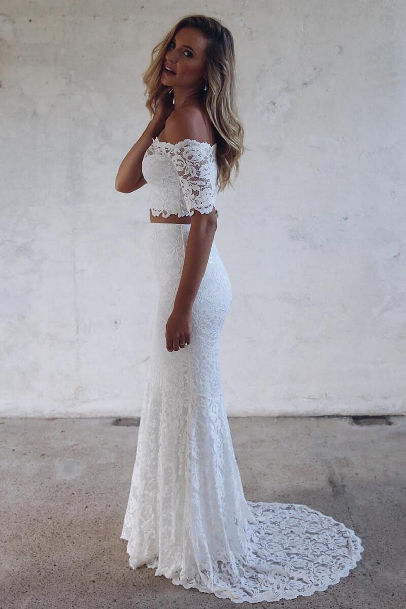 f38d524bf5a ... off-the-shoulder mermaid 2-piece wedding dress
