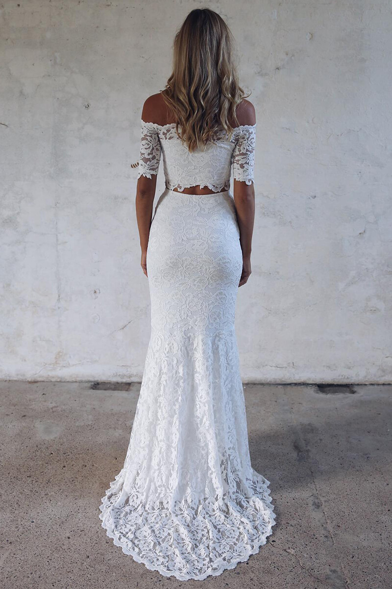 84c096f3111 ... off-the-shoulder mermaid 2-piece wedding dress ...