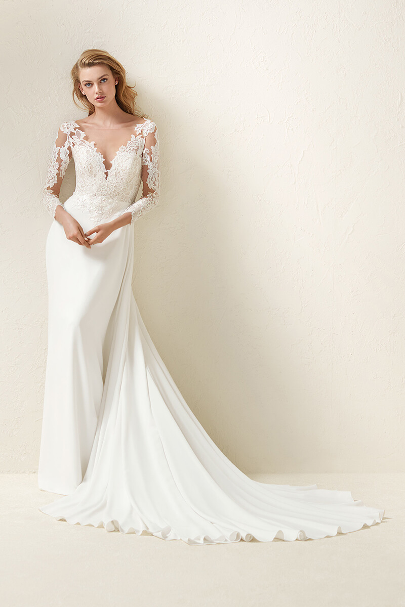 Long Sleeve Lace Wedding Dress | Bycouturier
