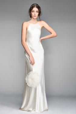 Satin Halter Bridal Dress