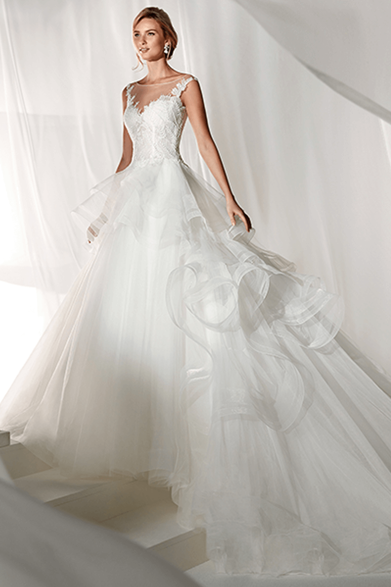 NameIllusion Sweetheart Big Ball Gown Wedding Dress