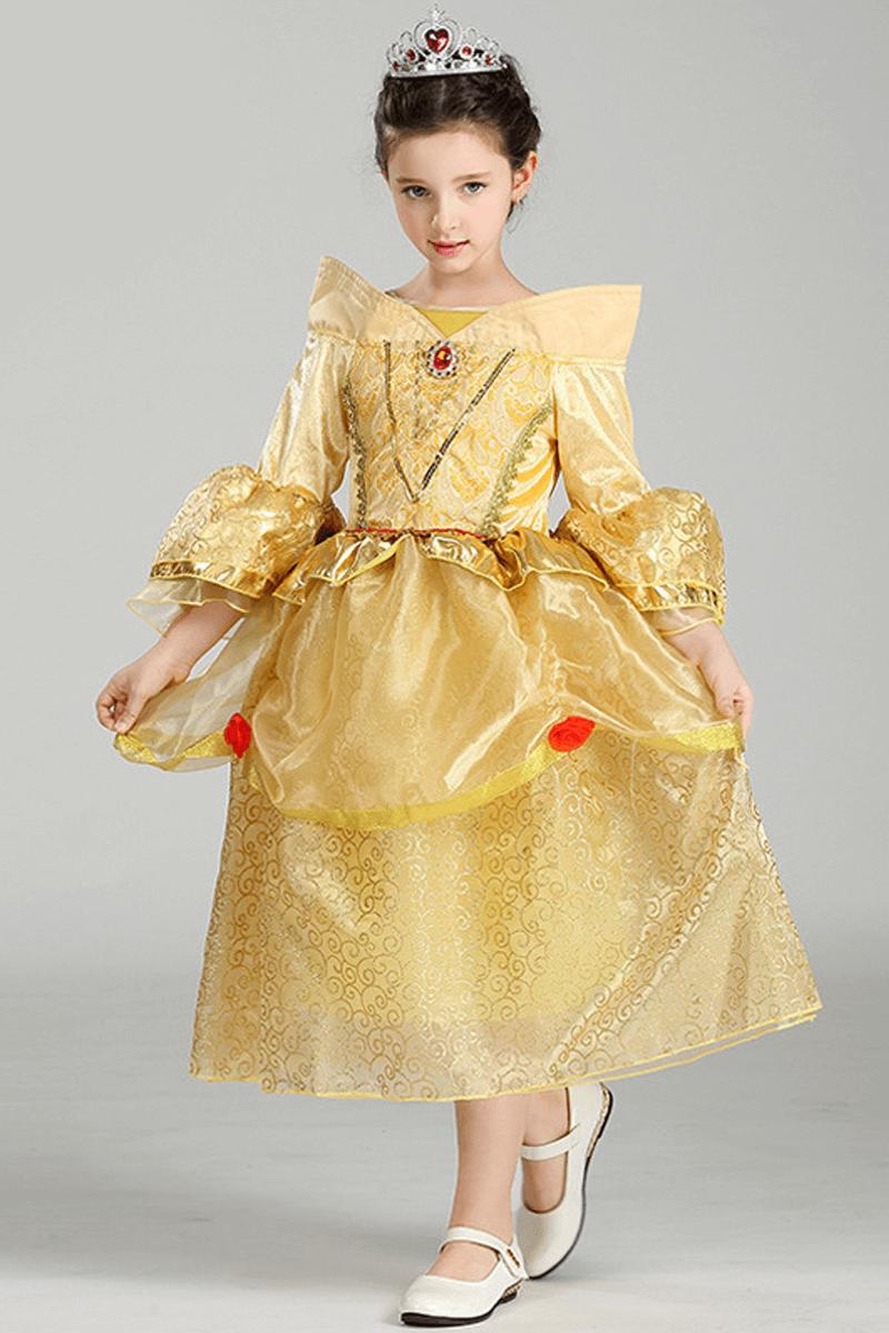 Tea length ball gown girl dress   Bycouturier