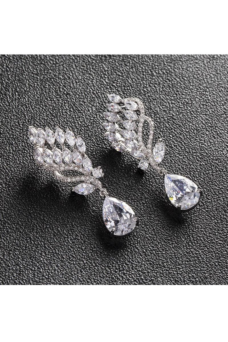 Unsymmetrical Leaf Shaped Earrings