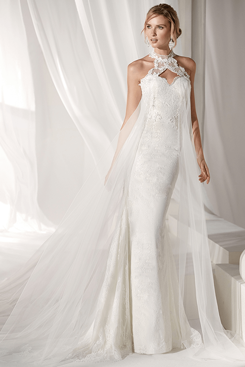 Halter Sweetheart Mermaid Wedding Dress | Bycouturier