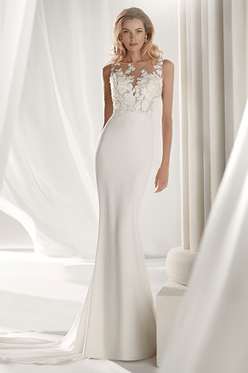 Satin Mermaid Wedding Dress | Bycouturier