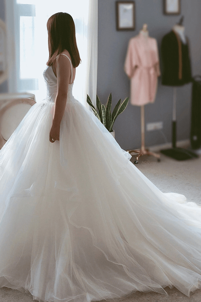 Ball Gown Tulle Hem Bridal Dress Bycouturier