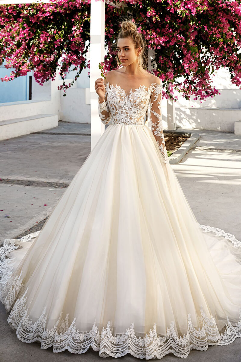 Long Sleeved Wedding Dresses.Wedding Ball Gown Dresses With Sleeves Lixnet Ag