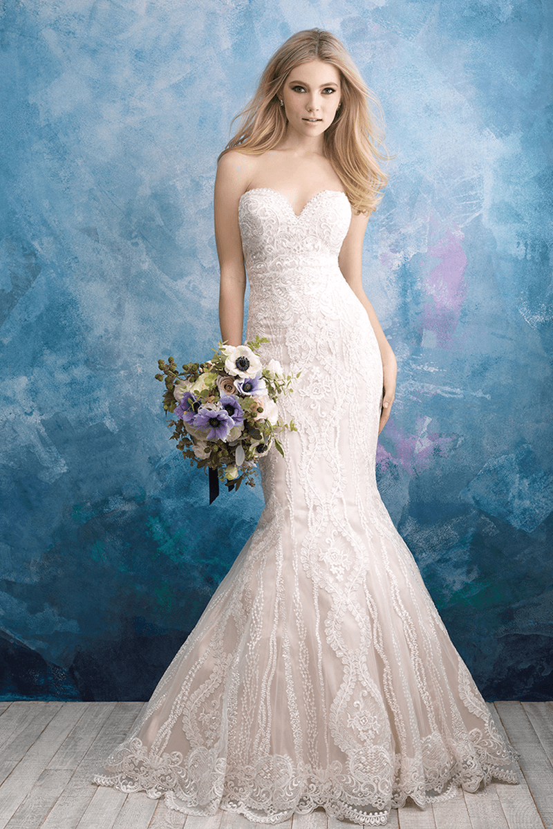 Trumpet sweetheart neck wedding dress | Bycouturier